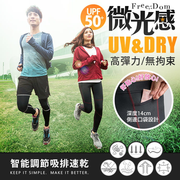 【BeautyFocus】男女智能調節運動壓力褲 1