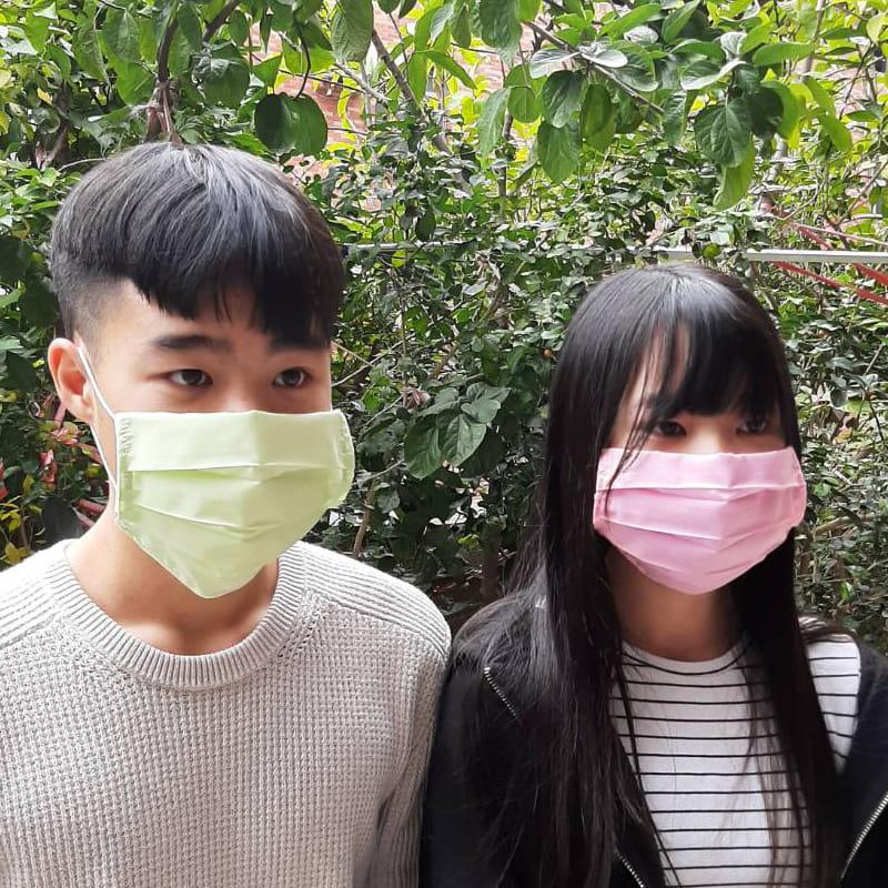 MIT素色棉布三折款口罩保護套 透氣薄款 (顏色隨機)【AG06008】 2