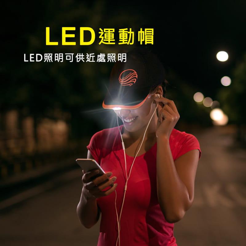 【LED運動帽 遠近照明】 0
