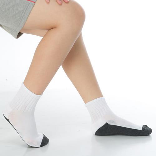 7~12歲學童專用毛巾底氣墊短襪x4雙C93002
