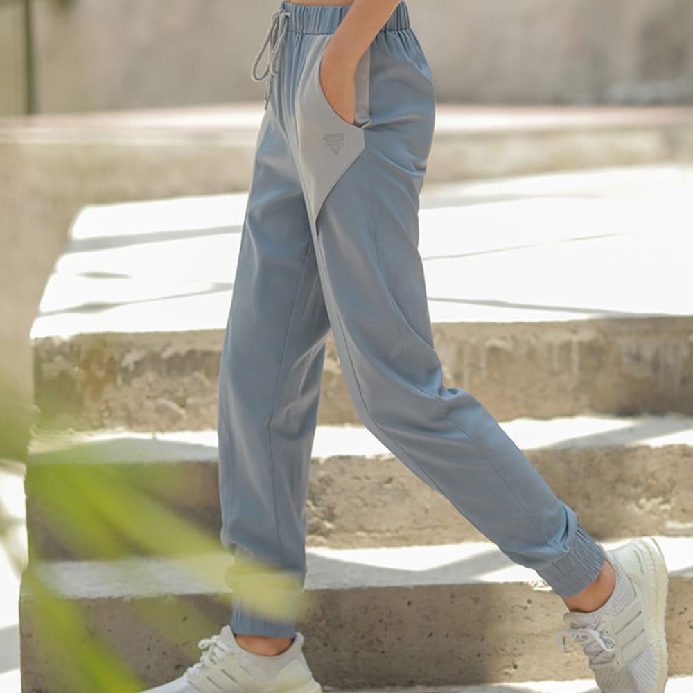 【NEW FORCE】簡約女款運動鬆緊長褲-兩款可選 10