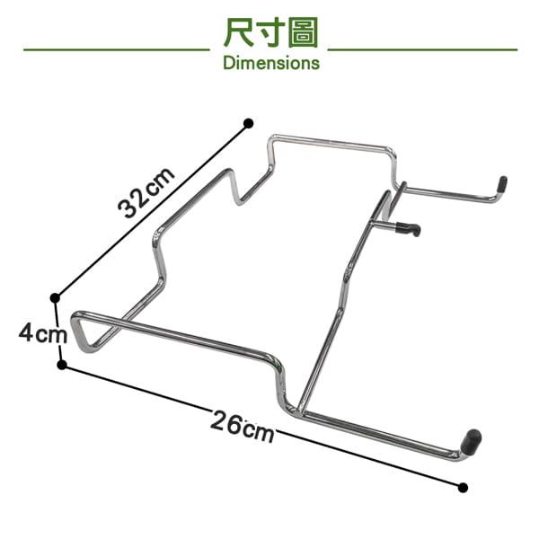 【LIFECODE】桌邊收納網架/垃圾袋架(不鏽鋼製) 6