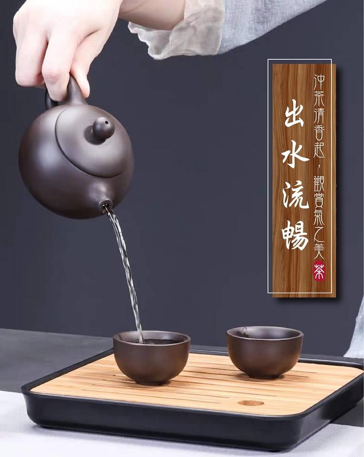 旅行便攜式紫砂茶具6件組 5
