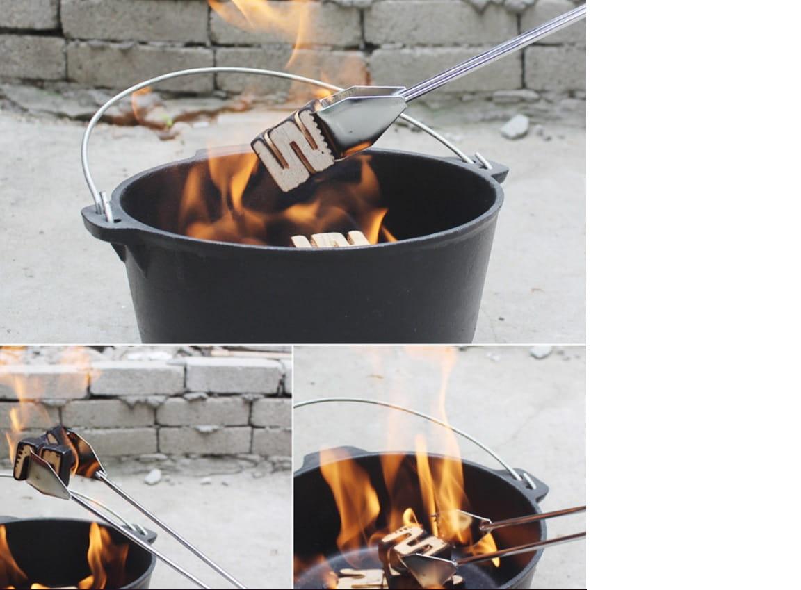 55cm加長户外BBQ不鏽鋼木炭烤夾 多功能夾子 0