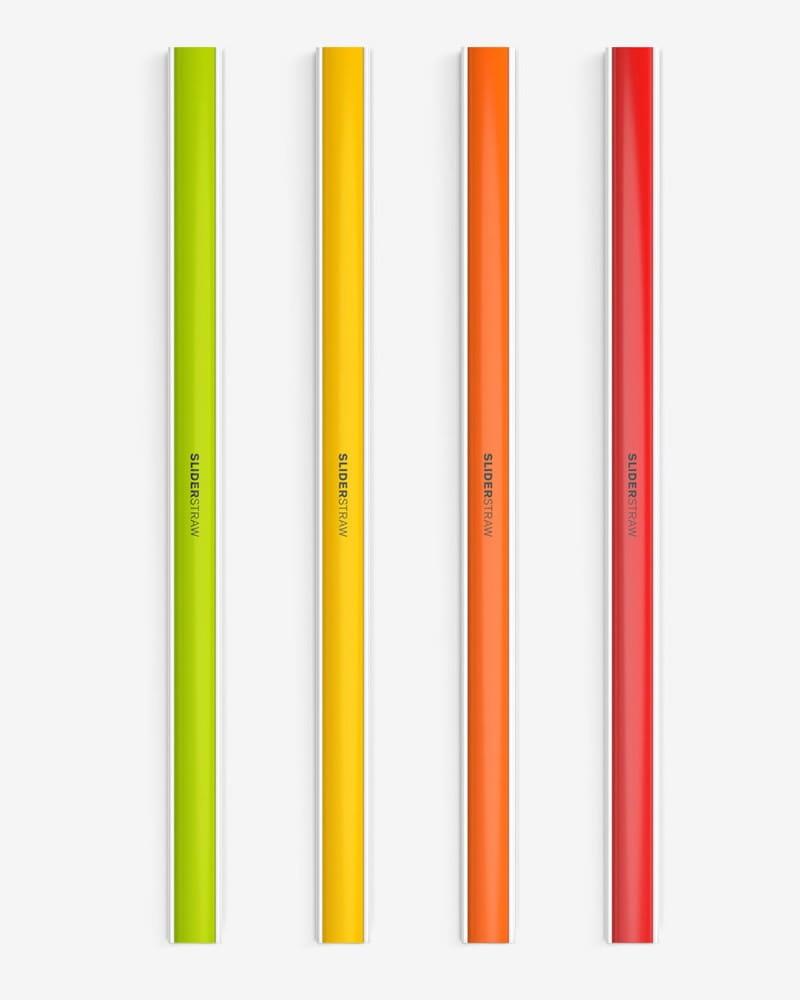 德國SLIDERSTRAW可拆式環保吸管 4色組21.5cm 4