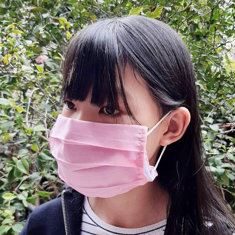 MIT素色棉布三折款口罩保護套 透氣薄款 (顏色隨機)【AG06008】 4