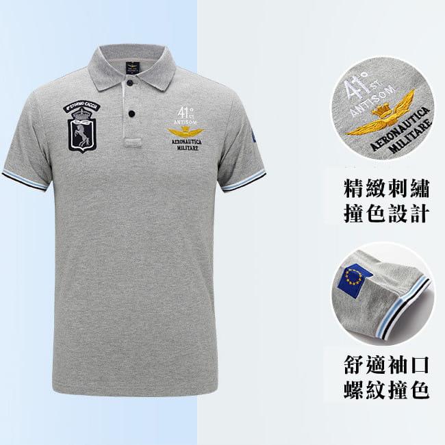 空軍MA1刺繡翻領吸汗透氣純棉短袖POLO衫 7色 M-4XL碼【 CW434212】 4