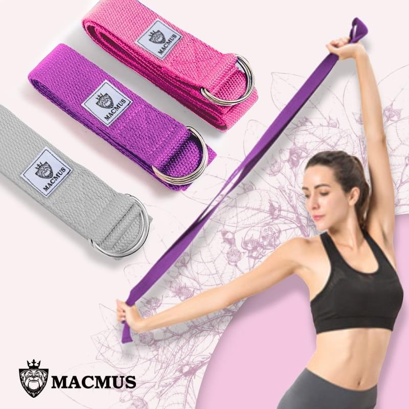 【MACMUS】瑜珈拉力帶|瑜伽輔助拉力繩|健身運動、深蹲、瑜珈|專注體式並伸展關節 0