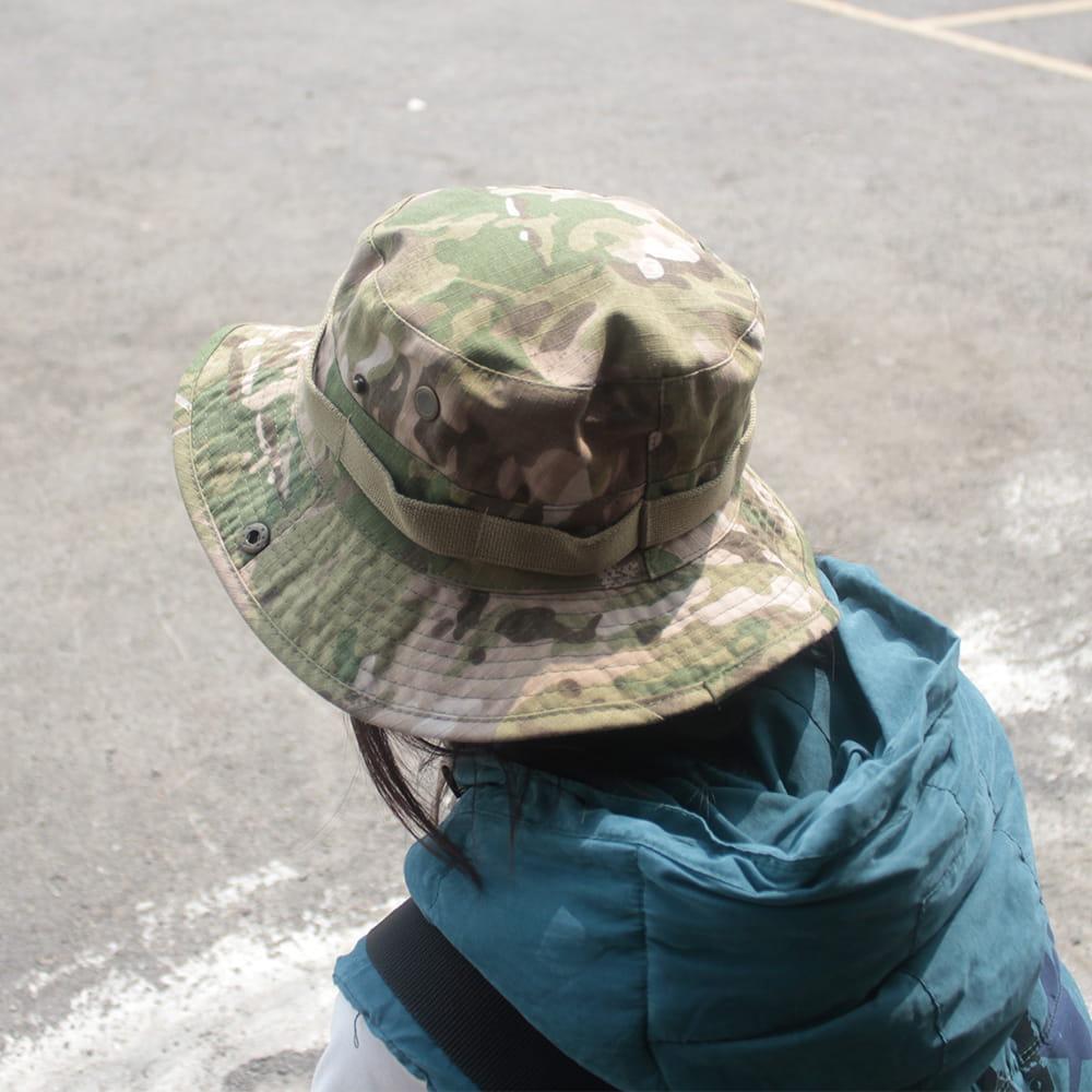 【E.City】可翻釦迷彩風戶外遮陽帽漁夫帽 1