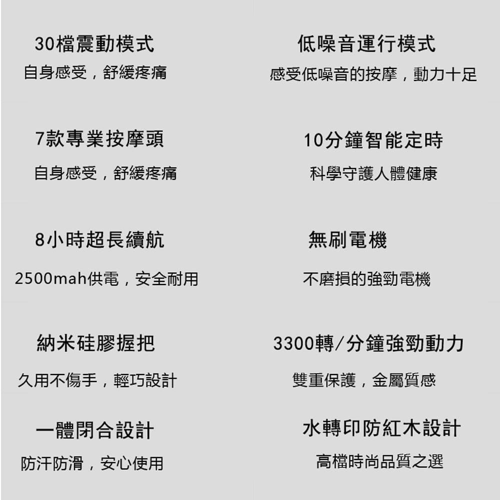 悅步雙頭電動筋膜槍-豪華款30檔(台灣BSMI認證保固一年) 5