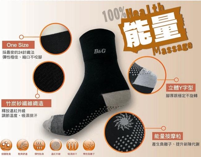 【京美】能量健康按摩襪 船型襪 0