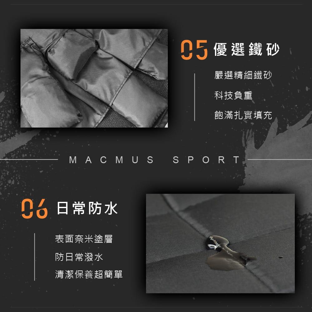 【MACMUS】5公斤 可調整負重背心|10小包鐵砂 8