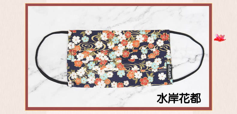 【ELASTI】台灣製日式和風口罩(買口罩送10片拋棄式濾片) 8