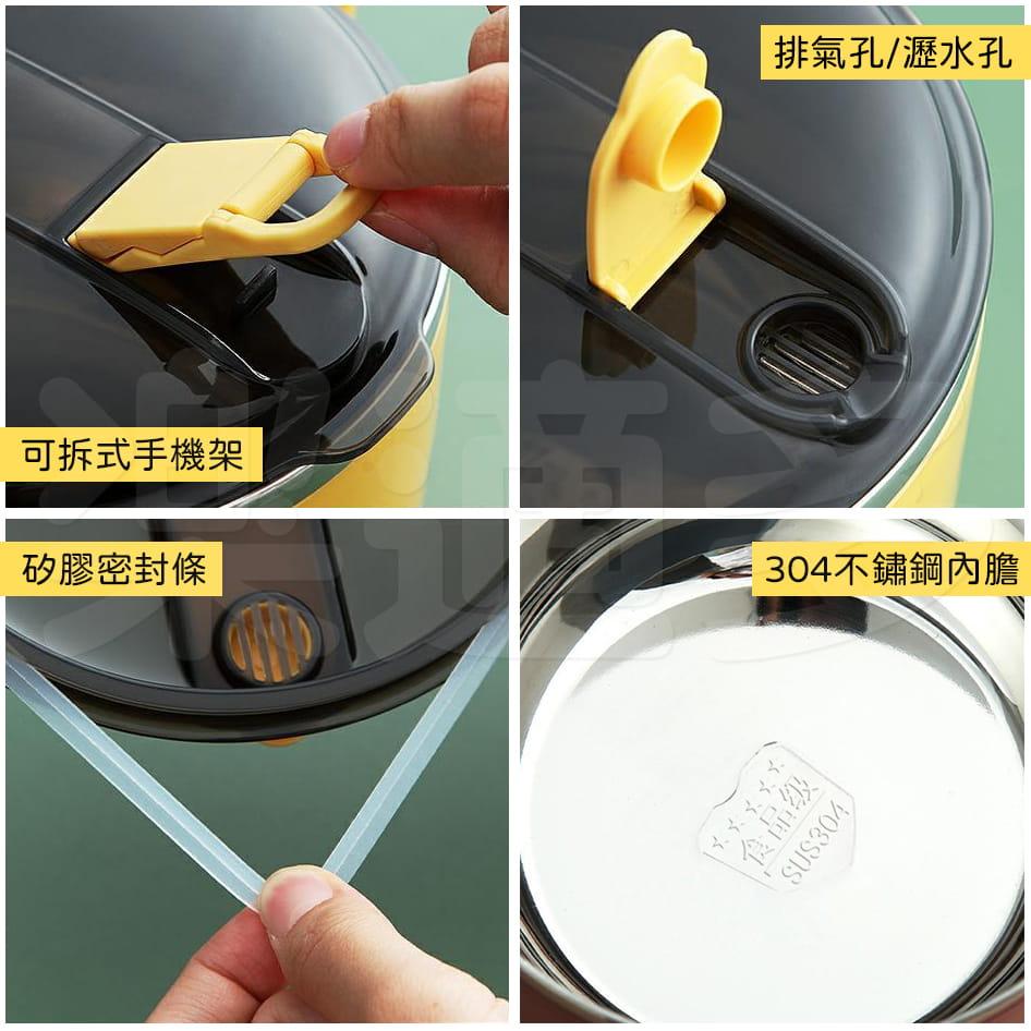 【1300ml】304不鏽鋼泡麵碗 蓋子可瀝水 蓋子可當手機架 SG9139泡麵碗 304不鏽鋼碗 2