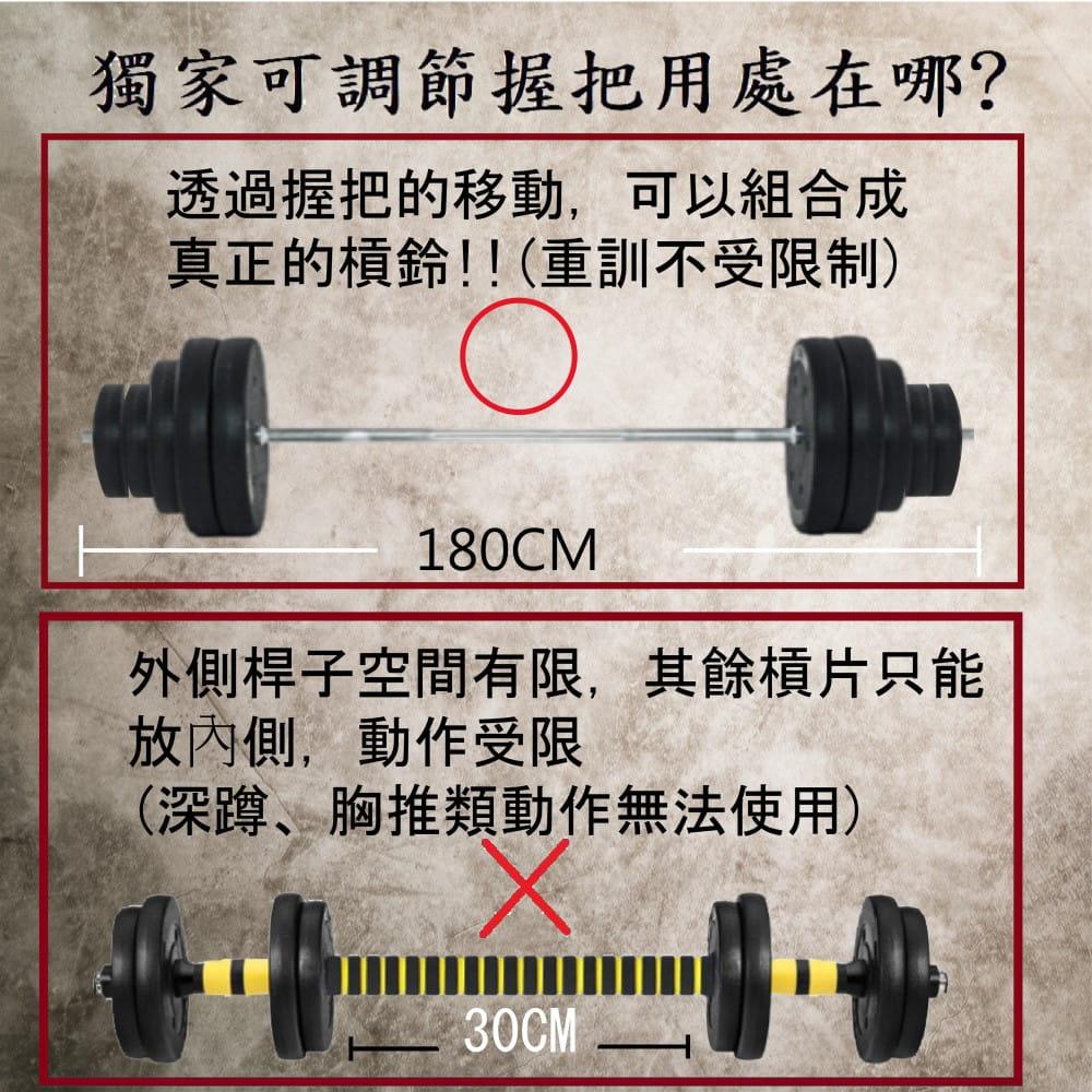 【運動叢林】野獸組72KG啞鈴 一體式鐵長槓 健身 重訓 3