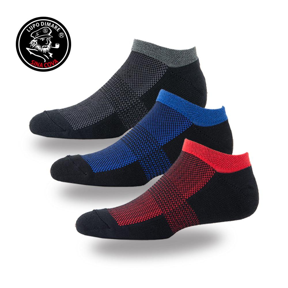 【老船長】(B4-144L)彩色運動毛巾加大運動船型襪