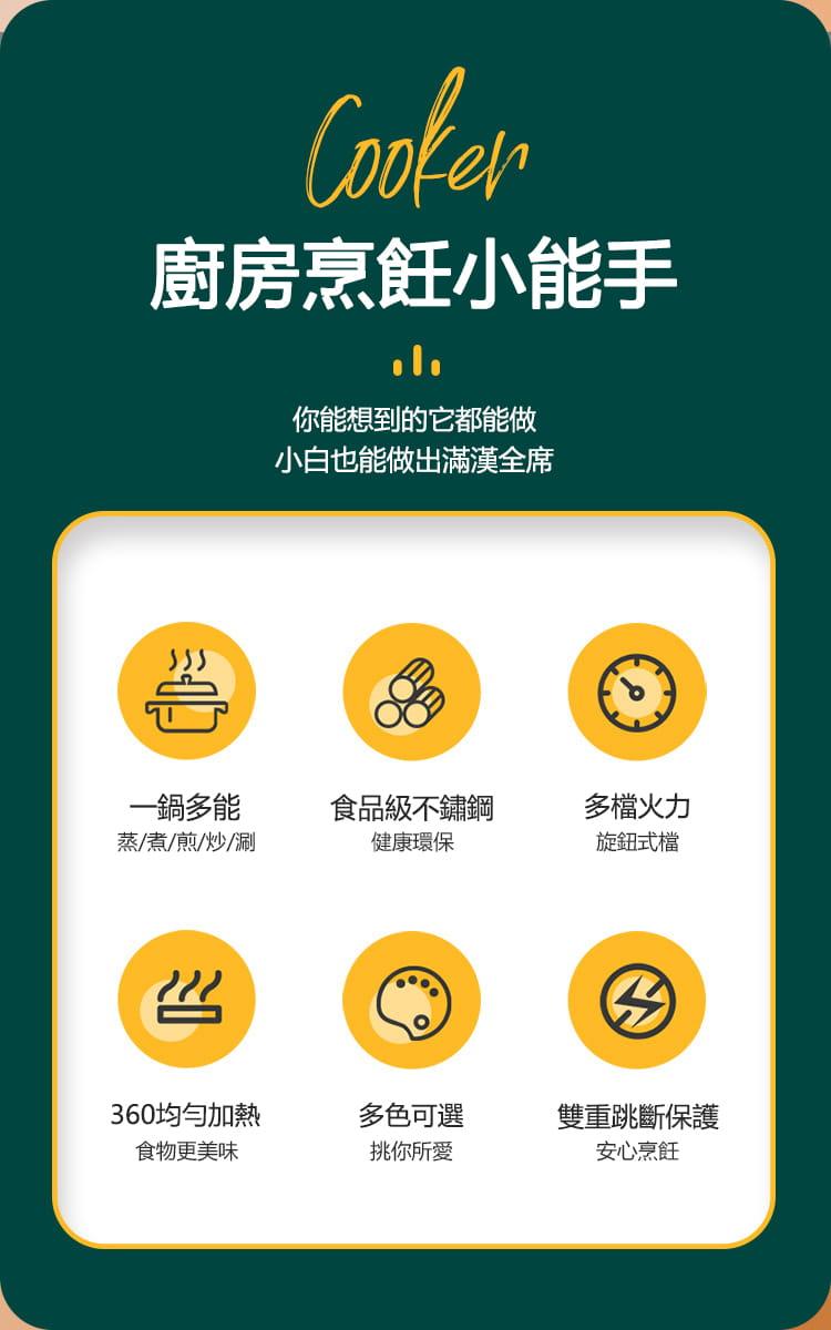(快速出貨)小倉Ogula 多功能便攜式美食鍋1.6L(電煮鍋/快煮鍋/料理鍋/調理鍋電火鍋) 13