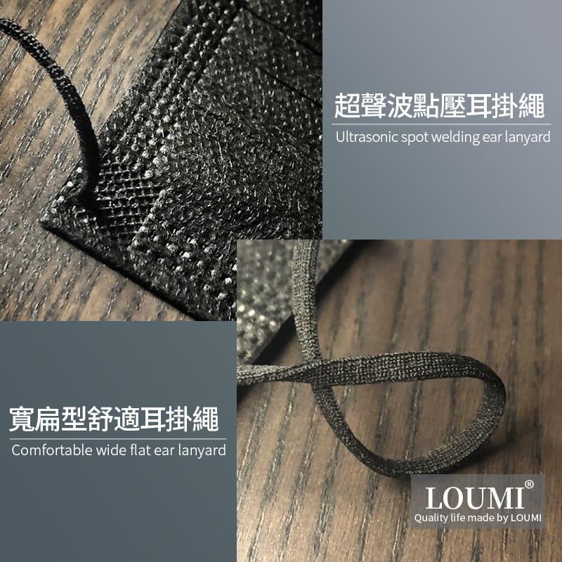 【LOUMI】魅力香氛口罩 櫻花粉/時尚黑【10片/盒】 7