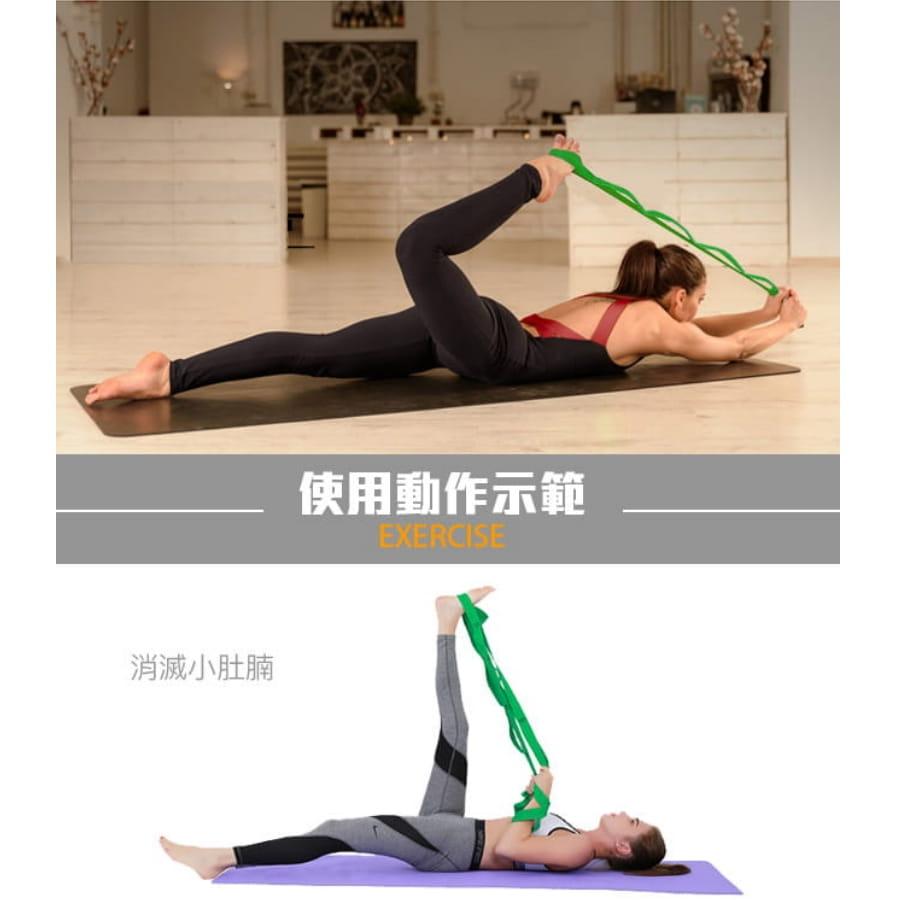 【10節 瑜珈帶】自由調整 瑜珈伸展帶 拉筋帶 瑜珈吊帶 6
