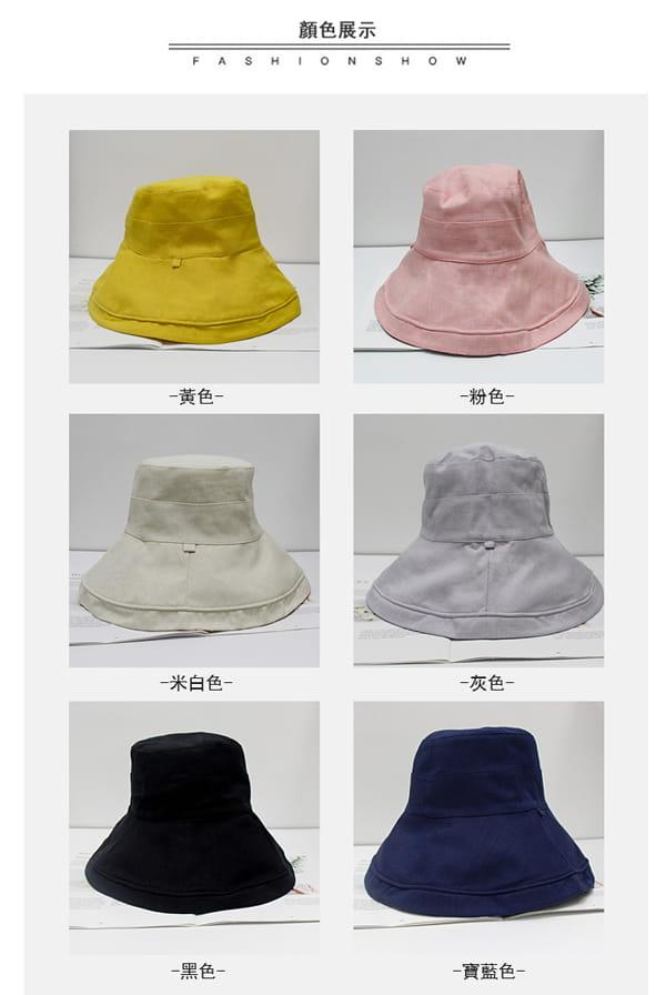 日系雙面拼色摺疊遮陽帽 6