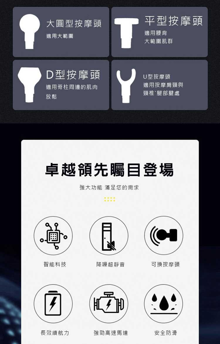 【健身大師】-輕量型USB充電極限筋膜槍(【健身大師】/筋膜槍/按摩槍) 5