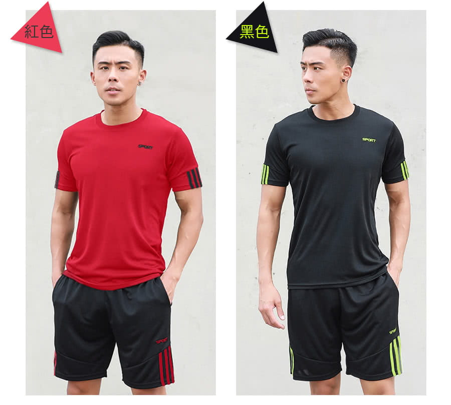 【Un-Sport高機能】SPORT男專業瞬間吸排二件式運動套裝(健身/路跑/籃球)短袖+短褲 10