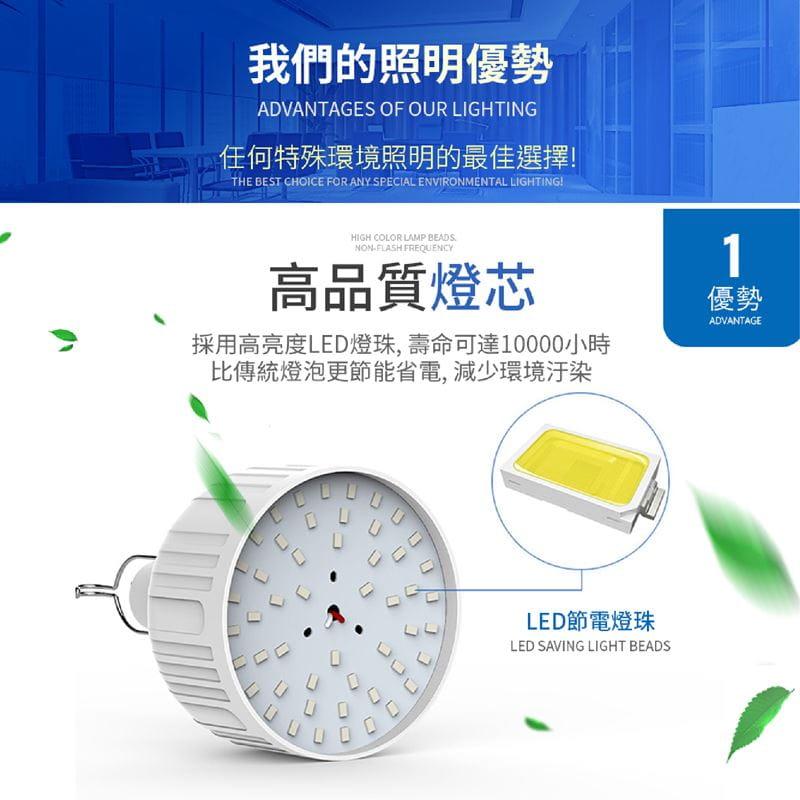 智能充電懸掛式LED燈泡20W 4