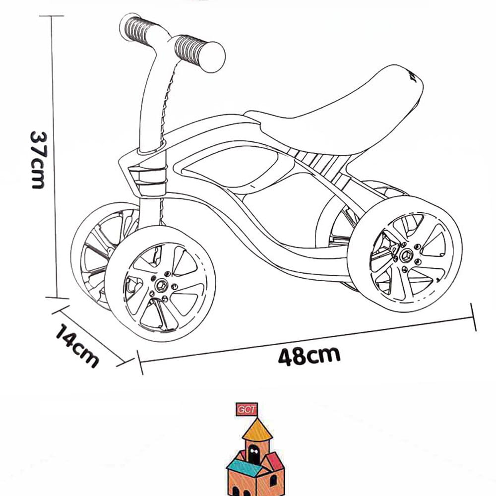 【GCT生活嚴選】【GCT玩具嚴選】平衡感學步車輕巧型 5