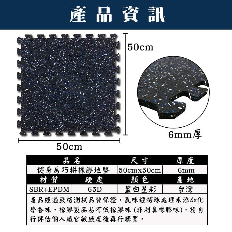 台灣製DIY健身房巧拼橡膠地墊 (SGS檢驗合格) 10