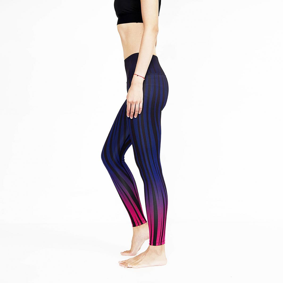 【ELASTI】典莎瑜珈褲(碘紗抗菌除臭機能)-迷幻斑馬 3