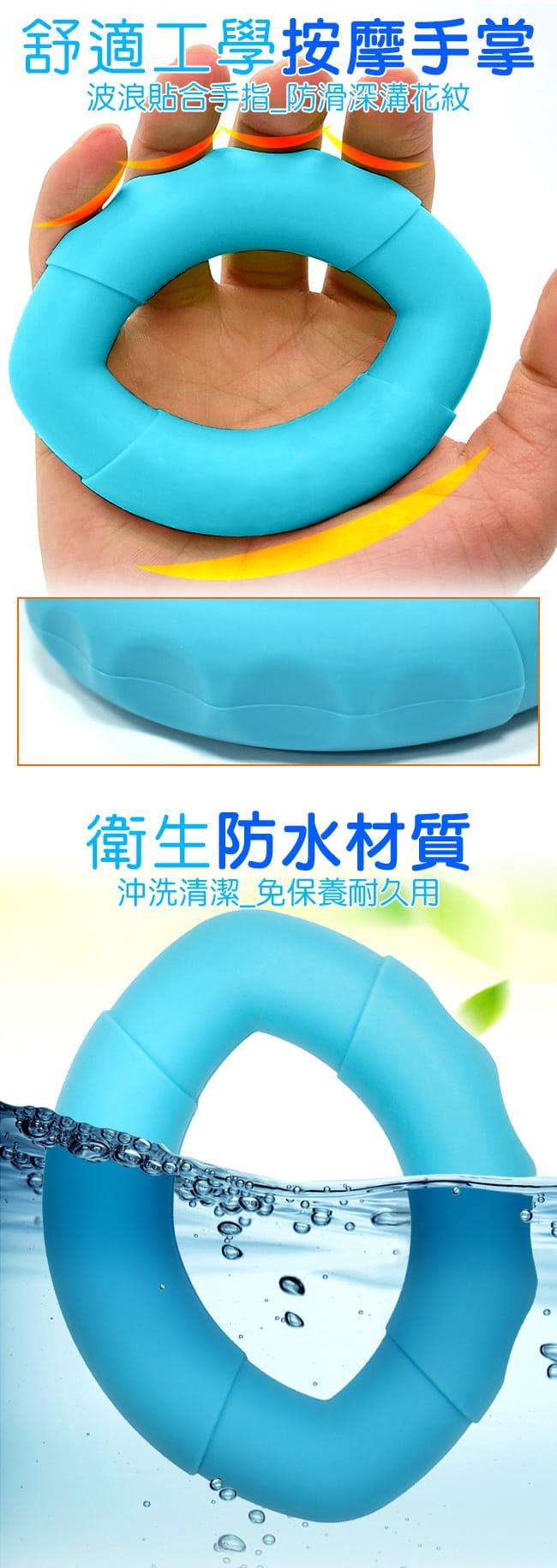 橢圓工學40LB握力圈   矽膠握力器握力環 5