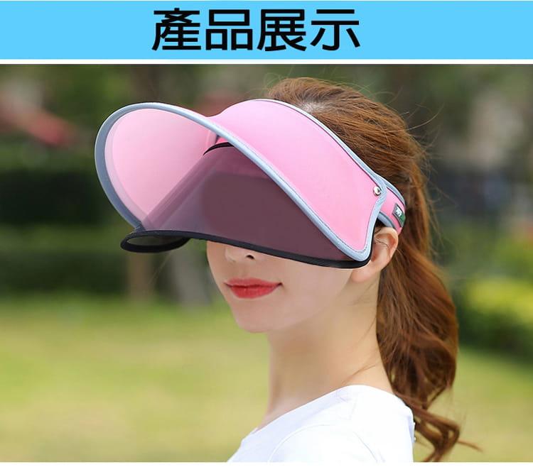 【JAR嚴選】升級版抗UV雙層可調式遮陽帽 5