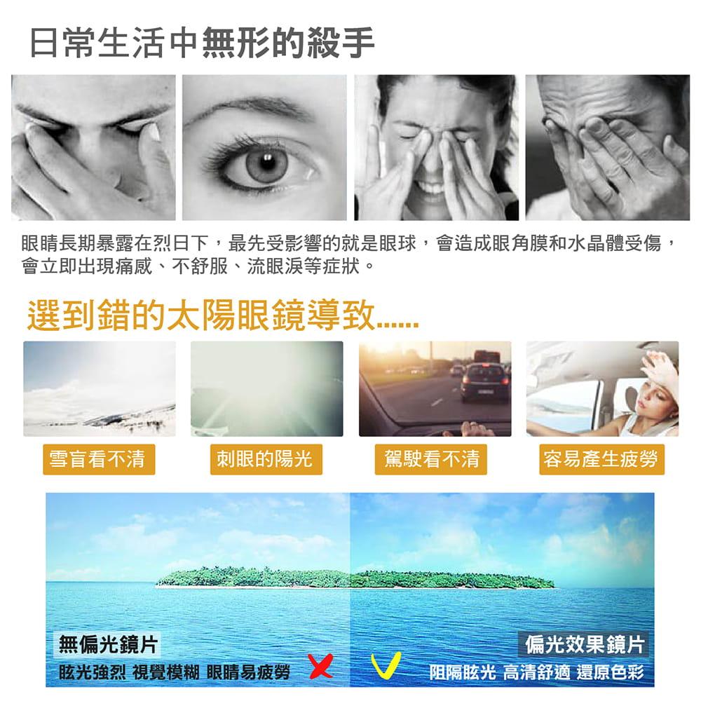 【抗紫外線UV400 偏光鏡片夾 安全防爆鏡片】太陽眼鏡夾 墨鏡夾 偏光眼鏡 偏光鏡片 1