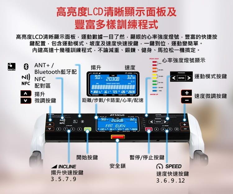 【ATTACUS】AT-100 玩美智慧電動跑步機 11
