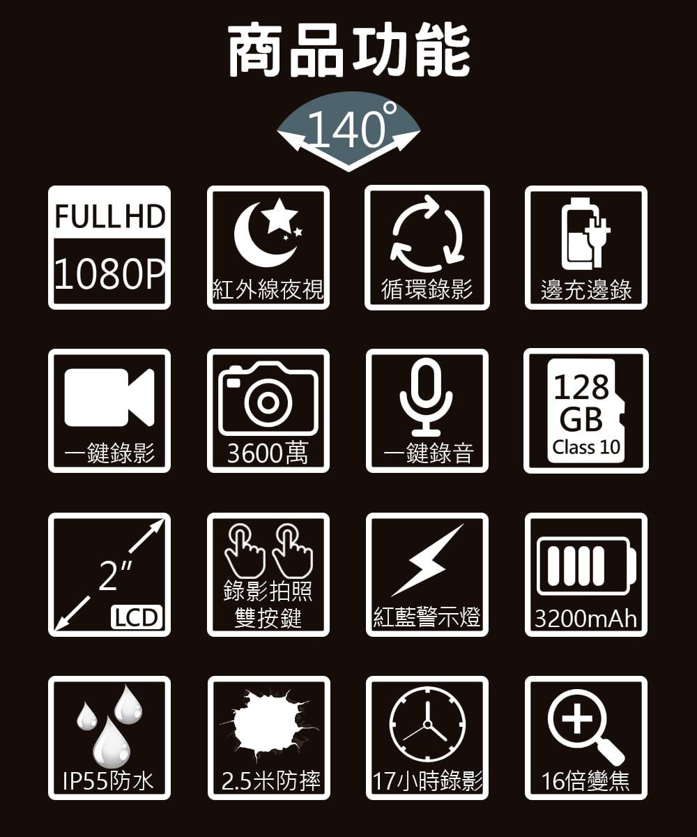【勝利者】警察專用密錄器 贈64G 1