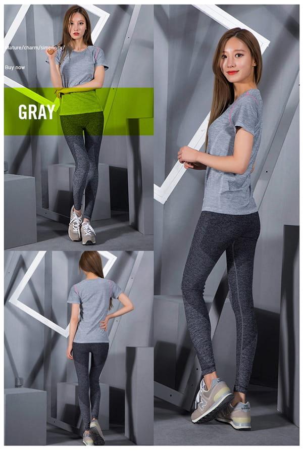 高腰運動健身壓力褲 15
