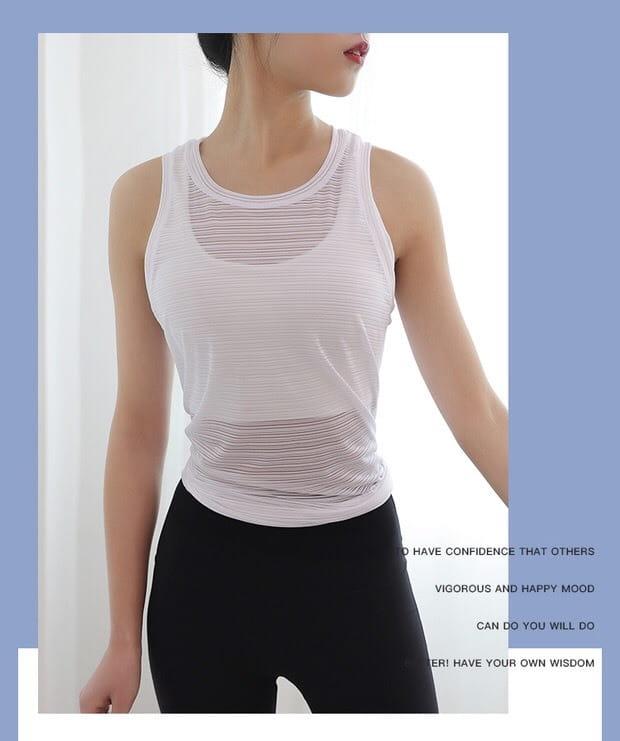 運動休閒 背心上衣 運動韻律有氧跑步瑜珈LETS SEA-KOI 3